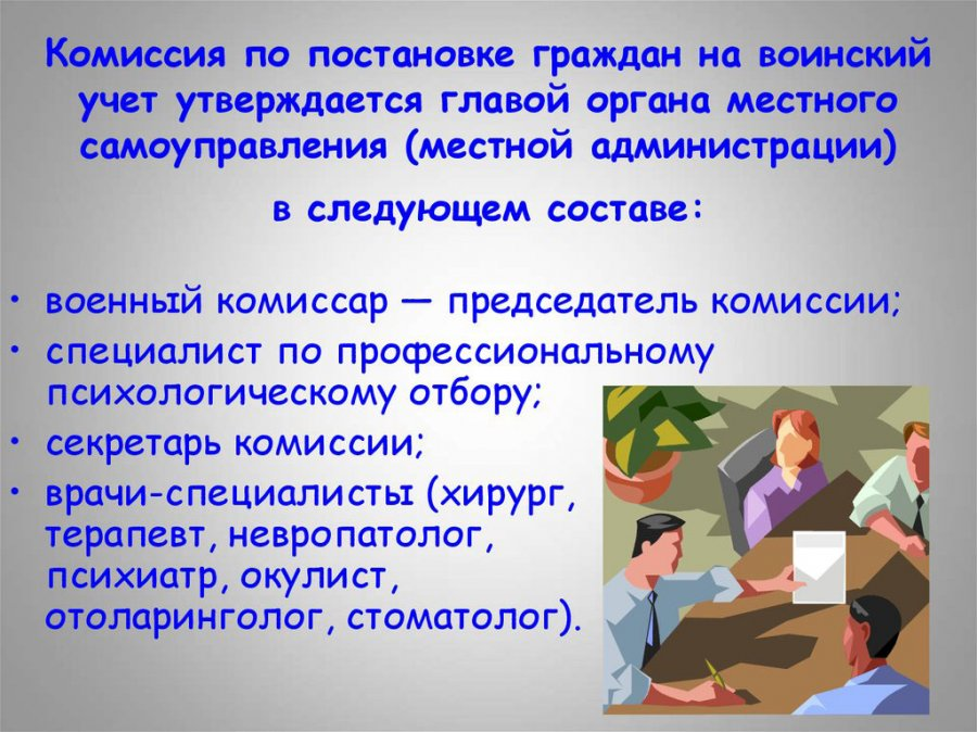 Состав призывной комиссии