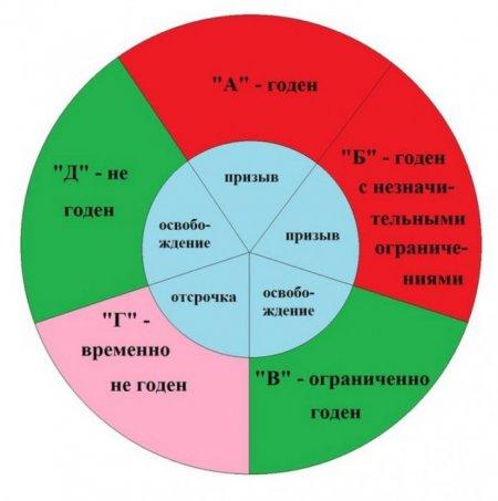 Диаграмма годности к службе по категориям