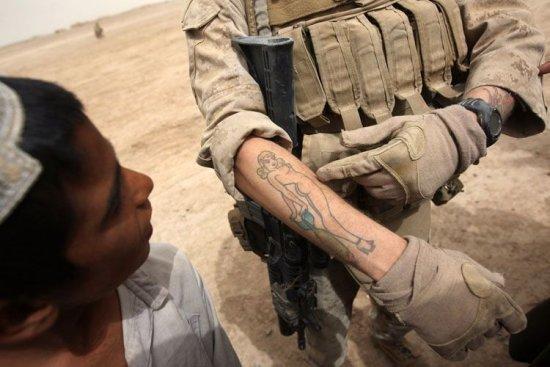 Тату у солдата