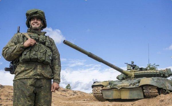 Танк Кантемировской дивизии на полигоне