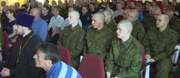 Призывники Вологодчины, отобранные для службы в Президентском Полку