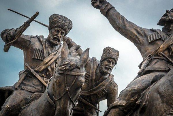 Фрагмент памятника Ингушскому полку