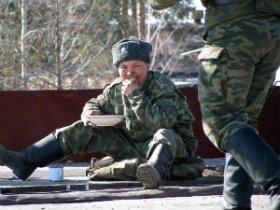 Солдат с лишним весом в армии